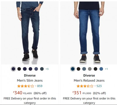 Men's Jeans at minimum 80% off