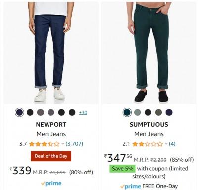 Men's Jeans at minimum 80% off