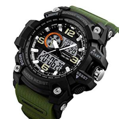Timewear Military Series Analogue Digital Black Dial Watch for Men & Boys - 1283 Green
