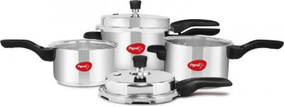 Pigeon Special Combi Pack 2 L, 3 L, 5 L Induction Bottom Pressure Cooker &Pressure Pan