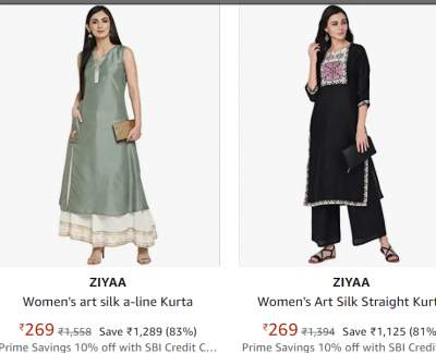Ziyaa Women Clothing Min.78%...