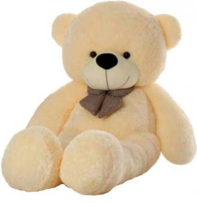 ToyHub 3 Feet Stuffed Spongy Hug-gable Cute Teddy Bear - 91 cm  (Cream)