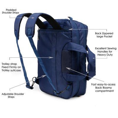 Chris & Kate Blue 4-Way Laptop Bag - Hand | Shoulder | Backpack Bag | Messenger Bag(CKB_195MA)