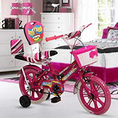 Ollmii Bikes 14 inches Pink Unisex Kids Cycle for 2 to 5 Years Age Group
