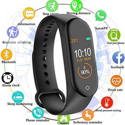 Junaldo M3 Smart Fitness Band Activity Watch with Heart Rate Sensor