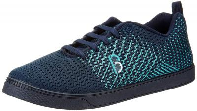 Bourge Mens Loire-29 Navy and Sea Green Sneakers