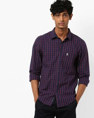 RED TAPE Checked Shirt with Patch Pocket