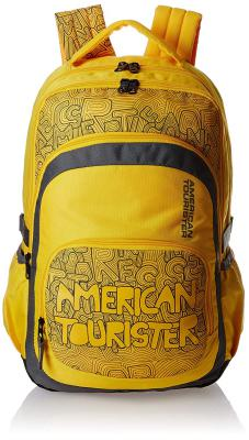 American Tourister Hoola 2016 27 Ltrs Yellow Casual Backpack