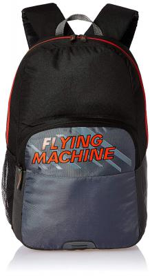 Flying Machine 6 Ltrs Black Red School Backpack (FMSB0067)