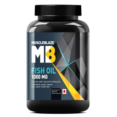 MuscleBlaze Omega 3 Fish Oil 1000 mg (180mg EPA and 120mg DHA) (180)