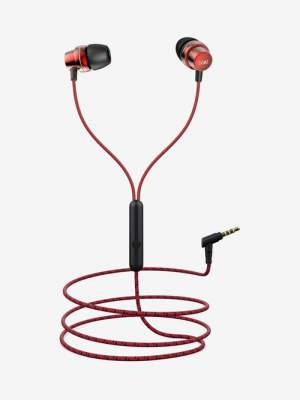 boAt BassHeads 182 Wired Headset with Mic  (Charcoal Black, In the Ear)
