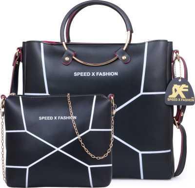 Speed X Fashion Women Black Hand-held Bag