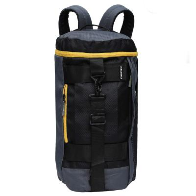 Gear Polyester 45 cms Grey and Yellow Travel Duffle (Metro New MAXIS DUFFELL Cum Backpack)