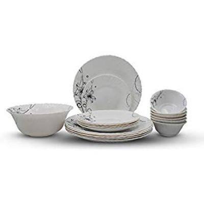 Soogo Opalware Dinner Set, 19-Pieces