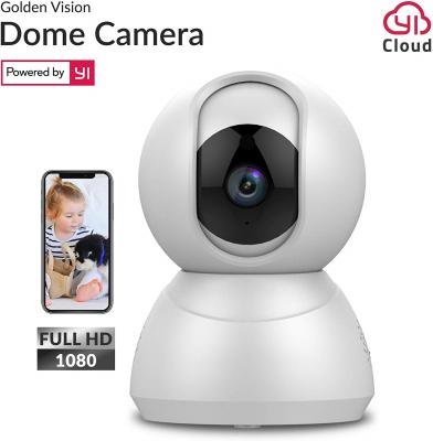 Golden Vision Dome 1080p WiFi Camera (White) - Powered by YI...