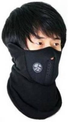 STARMAC Black Bike Face Mask for Men & Women  (Size: Free, Balaclava)