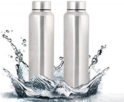Stainless Steel Water Bottle, 1 Litre, Silver (2)