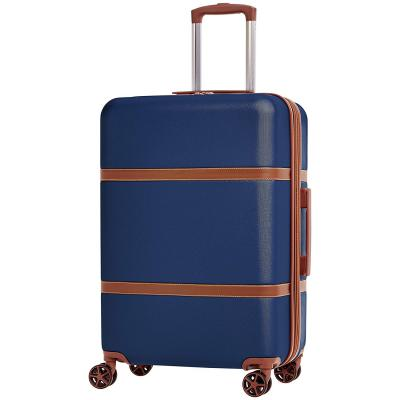 AmazonBasics Vienna 68 cm Navy Blue Hardsided Check-in Trolley with Extreme Scratch Resistance