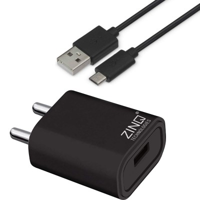 Zinq Technologies 2A Single Port Mobile Charger (White, Cable Included)