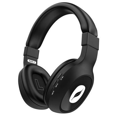 Leaf Bass 2 Wireless Bluetooth Headphones with Hi-Fi Mic and 15 Hours Battery Life, Over-Ear Headphones (Black)
