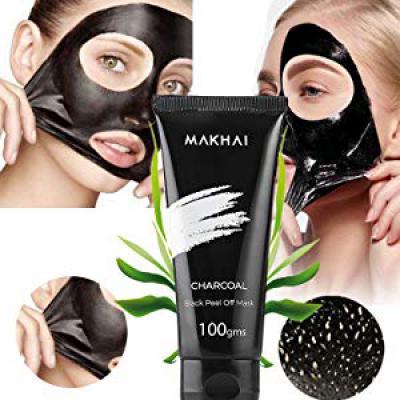 MAKHAI Bamboo Charcoal Blackhead Remover Peel Off Mask