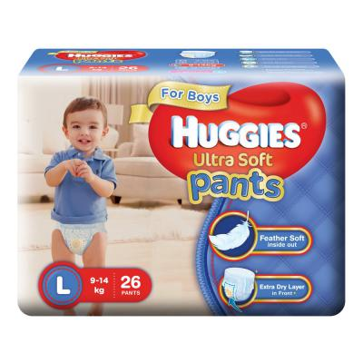 Huggies Ultra Soft Pants Diapers for Boys, Large (Pack of 26)
