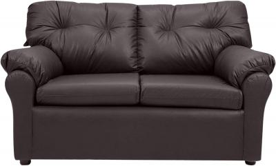 Furny Elzada Two Seater Sofa (Brown Leatherette)
