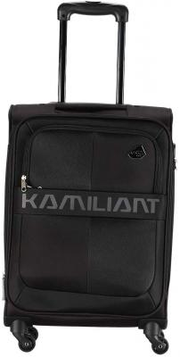 Kamiliant by American Tourister Kam Oromo Polyester 58 cms Black Softsided Cabin Luggage (KAM Oromo SP 58 cm - Black)