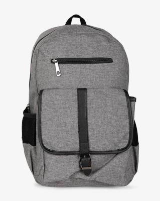 Ajio Textured Laptop Backpack with Buckle Closure