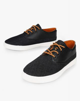 AJIO Panelled Low-Top Casual Shoes