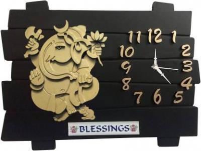 Flipkart SmartBuy Analog 35 cm X 35 cm Wall Clock  (Black)