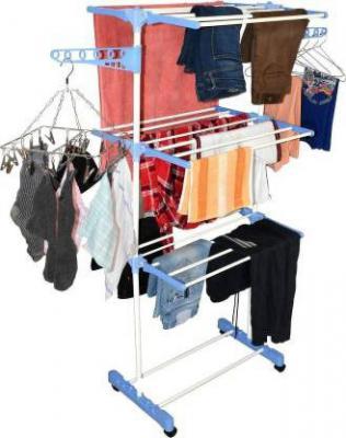 Flipkart SmartBuy Heavy Carbon Steel 3 Tier Single Poll Cloth Drying Stand Carbon Steel Floor Cloth Dryer Stand