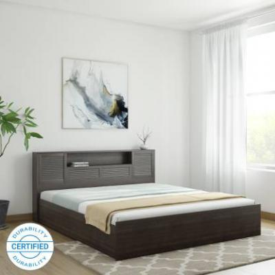 HomeTown Bolton Hydraulic Engineered Wood King Hydraulic Bed (Finish Color - Wenge)