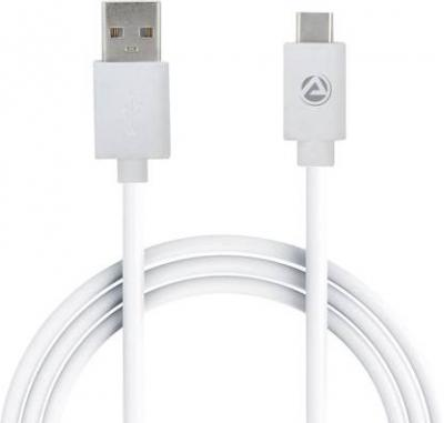 ARU PVC 1m 1 m USB Type C Cable (Compatible with all Type-C enabled devices, White, One Cable)