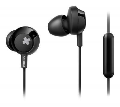 Philips Bass+ SHE4305 Headphones with Mic (Black)