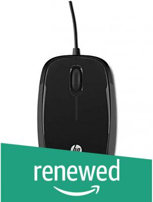 (Renewed) HP X1200 Wired Mouse (Black)