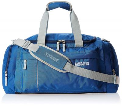American Tourister Nylon 55 cms Blue Travel Duffle