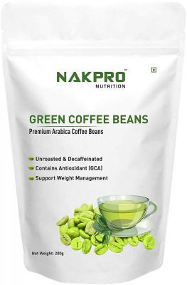Nakpro Nutrition Green Coffee Beans For Weight Loss Premium Arabica Grade Aa 200g Dealsmagnet