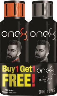 One8 By Virat Kohli One8 Deo Buy1 Get 1 Free combo Perfume Body Spray - For Men (400 ml, Pack of 2)