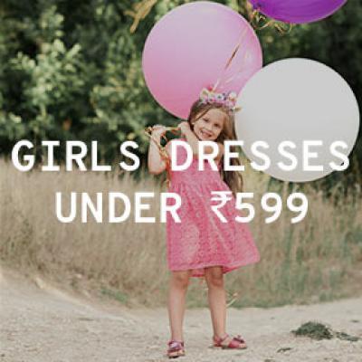 Girls Dresses Under Rs.599 (Min. 50% Off)