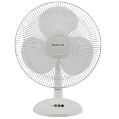 Havells Swing LX 400mm Table Fan (White)