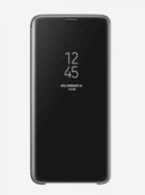 Samsung Clear View Flip Cover For Samsung Galaxy S9 Plus (Black)