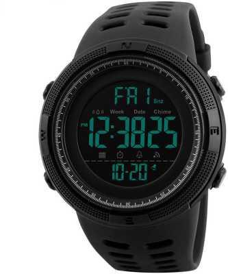 Skmei Digital Multi-functional Full Screen Black Sports Digital Watch  - For Men