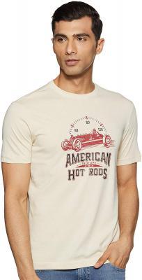 Red Tape Men's Printed Regular Fit T-Shirt
