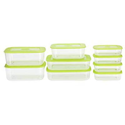 All Time Basic Plastic Container Set, 9-Pieces