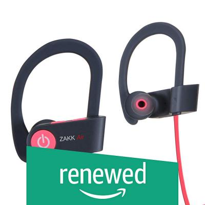 (Renewed) Zakk V1 Air in-Ear Bluetooth Earphone with Mic (Red)