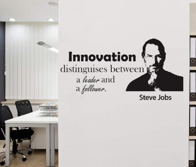 Wallstick Innovation Quotes Wallsticker (Vinyl 110 cm x 55 cm)