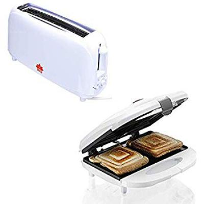 BMS Lifestyle Kitchen Combo of Melissa Sandwich Maker and Bread Two Slice Toaster...