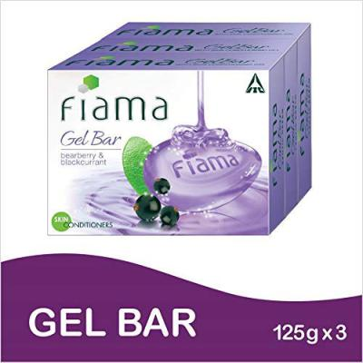 Fiama Gel Bar Bearberry and Blackcurrant 125g (Pack of 3)
