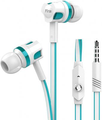PTron Raptor in-Ear Wired Earphones, Stereo Sound Headphones with Bass, Headset with Mic, Music & Call Controls, Univers